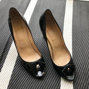 Christian Louboutin Milady patent leather heel 41